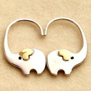 COPY - Elephant loop hoop earrings 🐘 Ivory Ella 💕